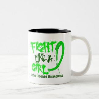 Fight Like A Girl 5.3 Lyme Disease Coffee Mugs