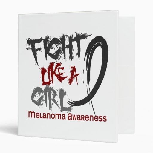 Fight Like A Girl 5.3 Melanoma Vinyl Binders