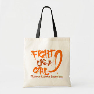 Fight Like A Girl 5.3 Multiple Sclerosis Tote Bags