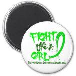 Fight Like A Girl 5.3 Non-Hodgkin's Lymphoma Refrigerator Magnets