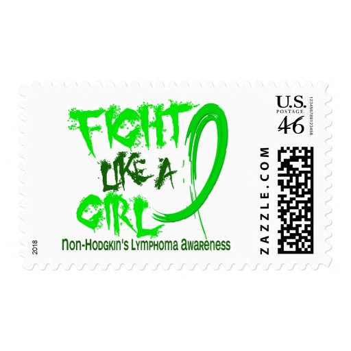 Fight Like A Girl 5.3 Non-Hodgkin's Lymphoma Postage Stamp