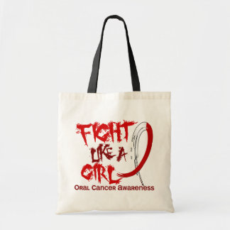 Fight Like A Girl 5.3 Oral Cancer Tote Bag