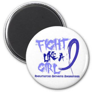 Fight Like A Girl 5.3 Rheumatoid Arthritis Fridge Magnets