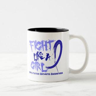 Fight Like A Girl 5 3 Rheumatoid Arthritis Mugs