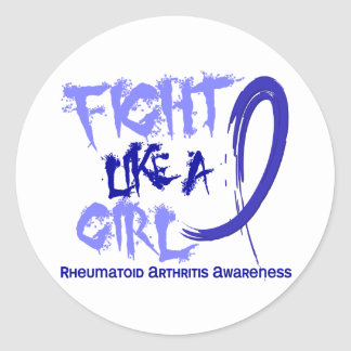 Fight Like A Girl 5.3 Rheumatoid Arthritis Classic Round Sticker