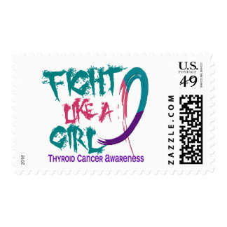 Fight Like A Girl 5.3 Thyroid Cancer Postage Stamps