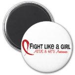 Fight Like A Girl 6.3 AIDS Fridge Magnets