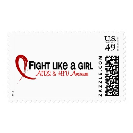 Fight Like A Girl 6.3 AIDS Postage Stamp
