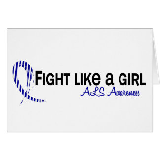 Fight Like A Girl 6.3 ALS Greeting Card