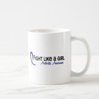 Fight Like A Girl 6.3 Arthritis Classic White Coffee Mug