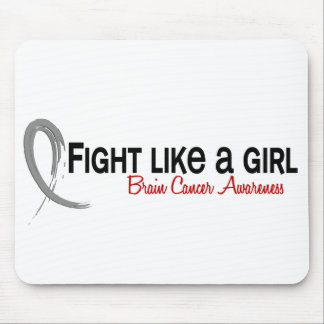 Fight Like A Girl 6.3 Brain Cancer Mouse Pad