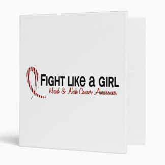 Fight Like A Girl 6.3 Head And Neck Cancer Vinyl Binder