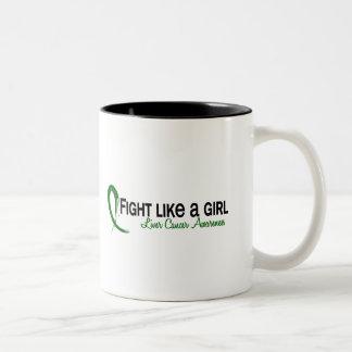 Fight Like A Girl 6.3 Liver Cancer Two-Tone Coffee Mug