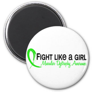 Fight Like A Girl 6.3 Muscular Dystrophy 2 Inch Round Magnet