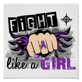 Fight Like A Girl Alzheimer s Disease 27 8 Posters
