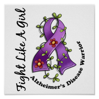 Fight Like A Girl Alzheimer s Disease 29 4 Poster