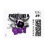 Fight Like A Girl Alzheimer's Disease 33.8 Postage Stamp