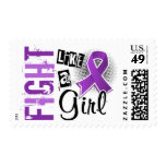 Fight Like A Girl Alzheimer's Disease 36.8 Postage Stamps