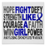 Fight Like A Girl Ankylosing Spondylitis 23.4 Posters