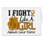 Fight Like A Girl Appendix Cancer 15.2 Greeting Cards