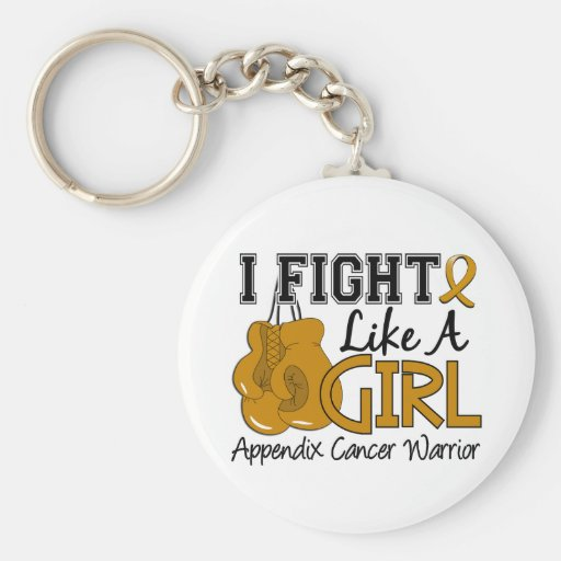 Fight Like A Girl Appendix Cancer 15.2 Key Chain