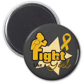 Fight Like a Girl - Appendix Cancer 2 Inch Round Magnet