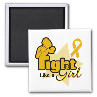 Fight Like a Girl - Appendix Cancer 2 Inch Square Magnet