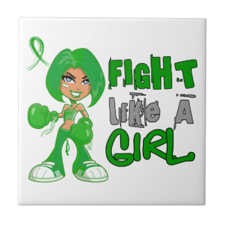 Fight Like a Girl Bile Duct Cancer 42.8.png Ceramic Tile