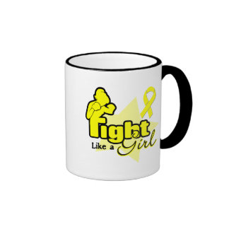 Fight Like a Girl - Bladder Cancer Coffee Mugs