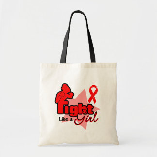 Fight Like a Girl - Blood Cancer Tote Bag