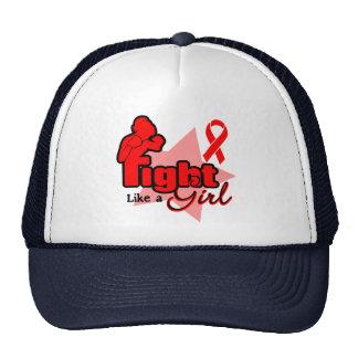 Fight Like a Girl - Blood Cancer Trucker Hats