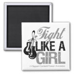 Fight Like a Girl Boxing - Carcinoid Cancer Fridge Magnet