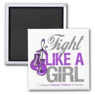 Fight Like a Girl Boxing - Domestic Violence Fridge Magnets