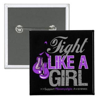 Fight Like a Girl Boxing - Fibromyalgia Button