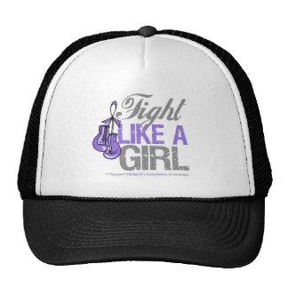 Fight Like a Girl Boxing - Hodgkins Lymphoma Mesh Hats