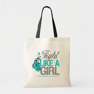 Fight Like a Girl Boxing Interstitial Cystitis Canvas Bags