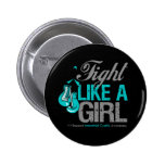 Fight Like a Girl Boxing Interstitial Cystitis Buttons
