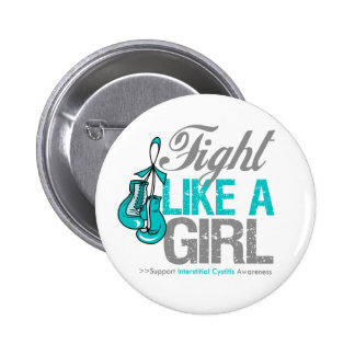 Fight Like a Girl Boxing Interstitial Cystitis Button