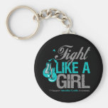 Fight Like a Girl Boxing Interstitial Cystitis Keychains