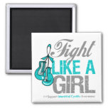 Fight Like a Girl Boxing Interstitial Cystitis Magnets