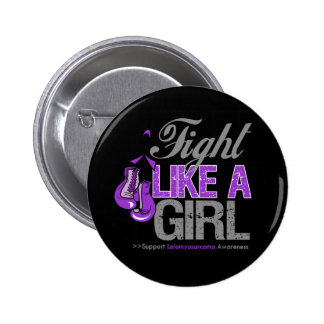 Fight Like a Girl Boxing - Leiomyosarcoma 2 Inch Round Button