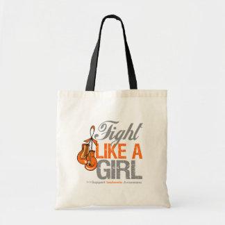 Fight Like a Girl Boxing - Leukemia Tote Bags