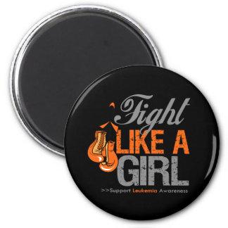 Fight Like a Girl Boxing - Leukemia Refrigerator Magnets
