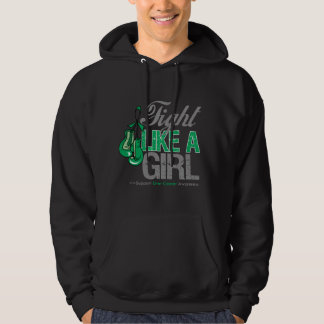 Fight Like a Girl Boxing - Liver Cancer Hooded Pullovers