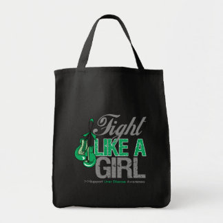 Fight Like a Girl Boxing - Liver Disease Canvas Bags