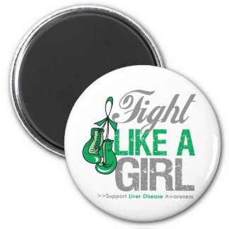 Fight Like a Girl Boxing - Liver Disease Refrigerator Magnets