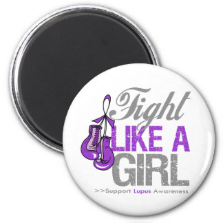 Fight Like a Girl Boxing - Lupus 2 Inch Round Magnet