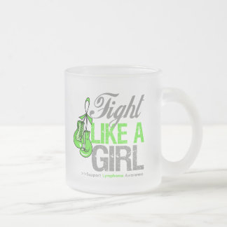 Fight Like a Girl Boxing - Lymphoma 10 Oz Frosted Glass Coffee Mug