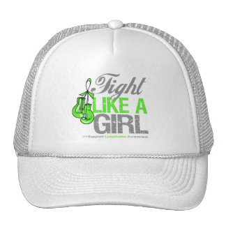 Fight Like a Girl Boxing - Lymphoma Mesh Hat