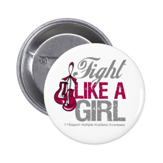 Fight Like a Girl Boxing - Multiple Myeloma Pinback Button